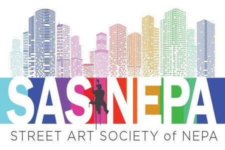 Street Art Society NEPA logo top section buildings